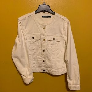 Ralph Lauren white jean jacket XL
